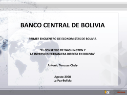 El consenso de Washington y la Inversión Extranjera Directa en