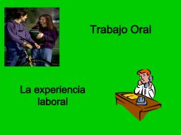 Mi experiencia laboral - Español para inmigrantes y refugiados