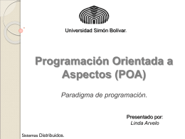 Programación Orientada a Aspectos (POA) - LDC