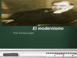 El modernismo-Trabajo con nota PPT para blog