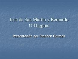 José de San Martín y Bernardo O`Higgins