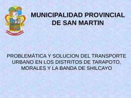 MUNICIPALIDA PROVINCIAL DE SAN MARTIN