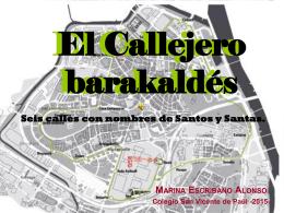 Seis calles con nombres de Santos y Santas