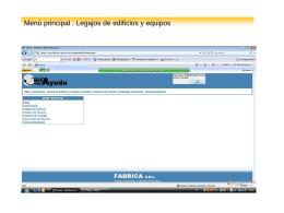 Presentación Web Legajos