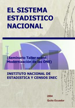 El Sistema Estadístico Nacional