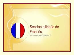 Sección bilingüe en francés IES Comuneros de