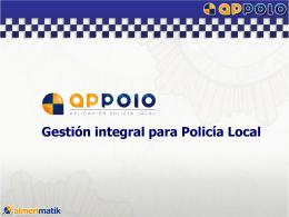 Aplicación de Policías Locales