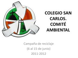 COLEGIO SAN CARLOS COMITÉ AMBIENTAL