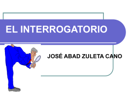 interrogatorio o contrainterrogatorio