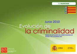 Informe Evolución criminalidad