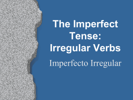 The Imperfect Tense - Auburn City Schools