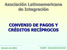 Convenio de Pagos y Créditos Recíprocos