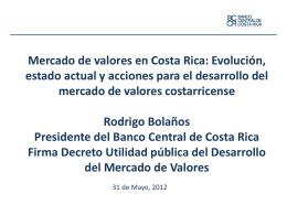 Mercado de valores en Costa Rica
