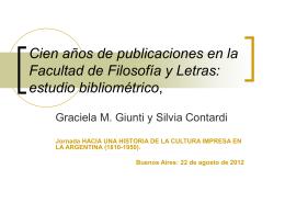 Cien años de publicaciones en la Facultad de Filosofía y Letras