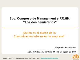¿Quién es el dueño de la Comunicación Interna en la empresa?