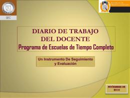 Diario de Trabajo - Secretaría de Educación y Cultura