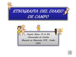 ETNOGRAFÍA DEL DIARIO DE CAMPO