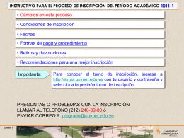 INSTRUCTIVO PARA EL PROCESO DE