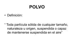 POLVO Neumoconiogeno - 3tecprevriesgos2010