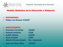Modelo Sistémico de la Educación a Distancia