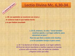 Lectio Divina Mc. 6,30-34 - Servidores de la Palabra