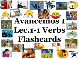 Regular –AR verbs Flashcards