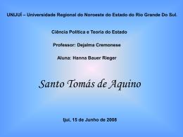Tomás de Aquino - Capital Social Sul