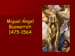 Pintura Cinquecento. Miguel Ángel