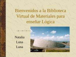 Bienvenidos a la Biblioteca Virtual de Materiales para