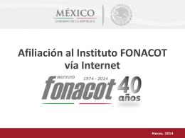 Afiliación al Instituto FONACOT vía Internet