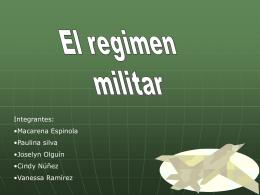 regimen militar