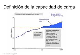 ppt Capacidad de carga y Huella ecológica