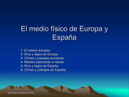 El medio físico de Europa y España