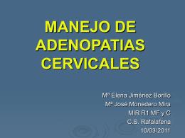 DIAGNÓSTICO DIFERENCIAL DE ADENOPATIAS CERVICALES