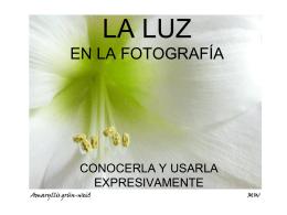LA LUZ EN LA FOTOGRAFÍA