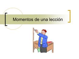 Segunda sesión: Momentos de una lección