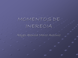 MOMENTOS DE INERECIA