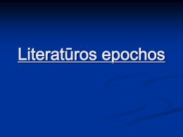 Literatūros epochos