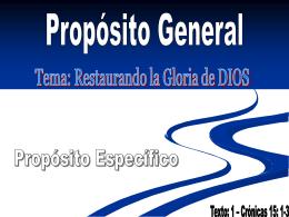 Restaurando la Gloria - Iglesia Vida con Proposito
