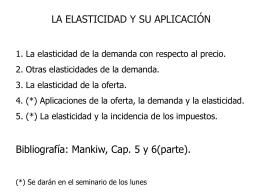 Elasticidades de la demanda y elasticidad de la oferta
