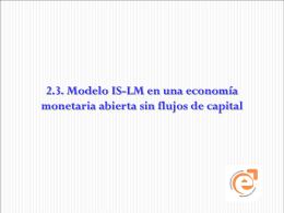 IS-LM en economías abiertas sin flujos de capital