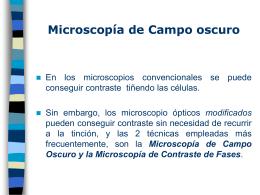 Microscopía de Campo oscuro