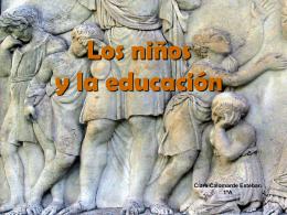 Los niños y la educación en Roma.