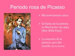Período rosa de Picasso