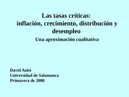 Las tasas críticas - Universidad de Salamanca