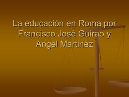 La educación en Roma por Francisco José Guirao y