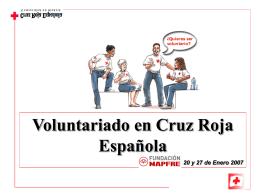 Voluntariado en Cruz Roja Española 20 y 27 de