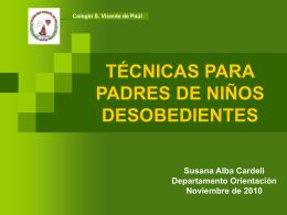 NIÑOS DESOBEDIENTES charla - Dpto. de Orientación San Vicente