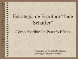 Jane Schaffer-Como Escribir un Parrafo Eficaz