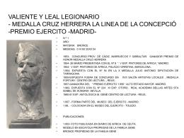 VALIENTE Y LEAL LEGIONARIO - MEDALLA CRUZ